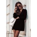 Dzienna sukienka odcinana w talii Malvina - czarna