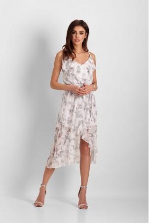 Szyfonowa asymetryczna sukienka Chantal
