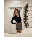 Dzianinowa mini spódnica Sonia - wielokolorowa