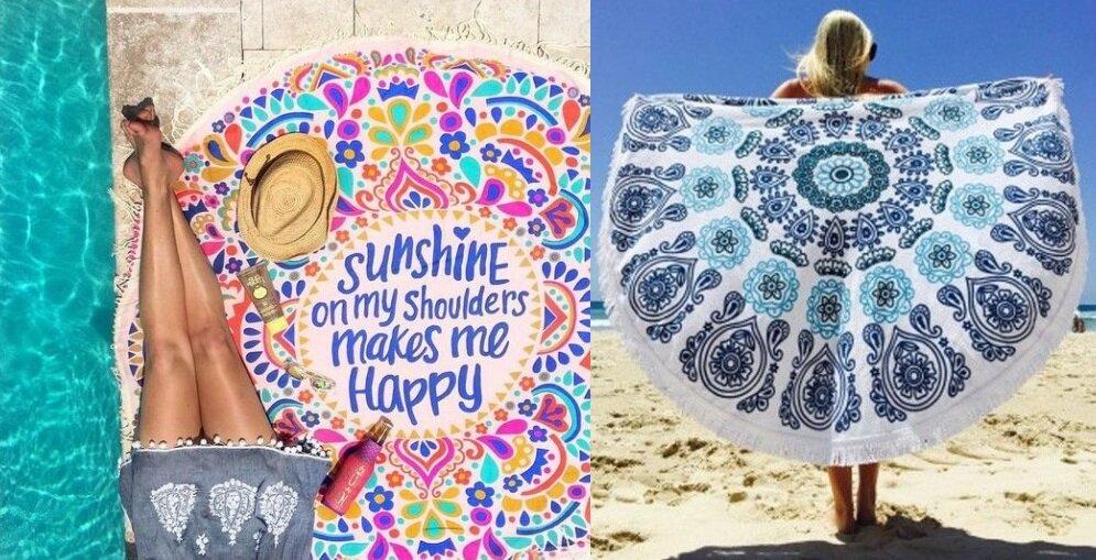 Ręcznik plażowy wstylu boho.
