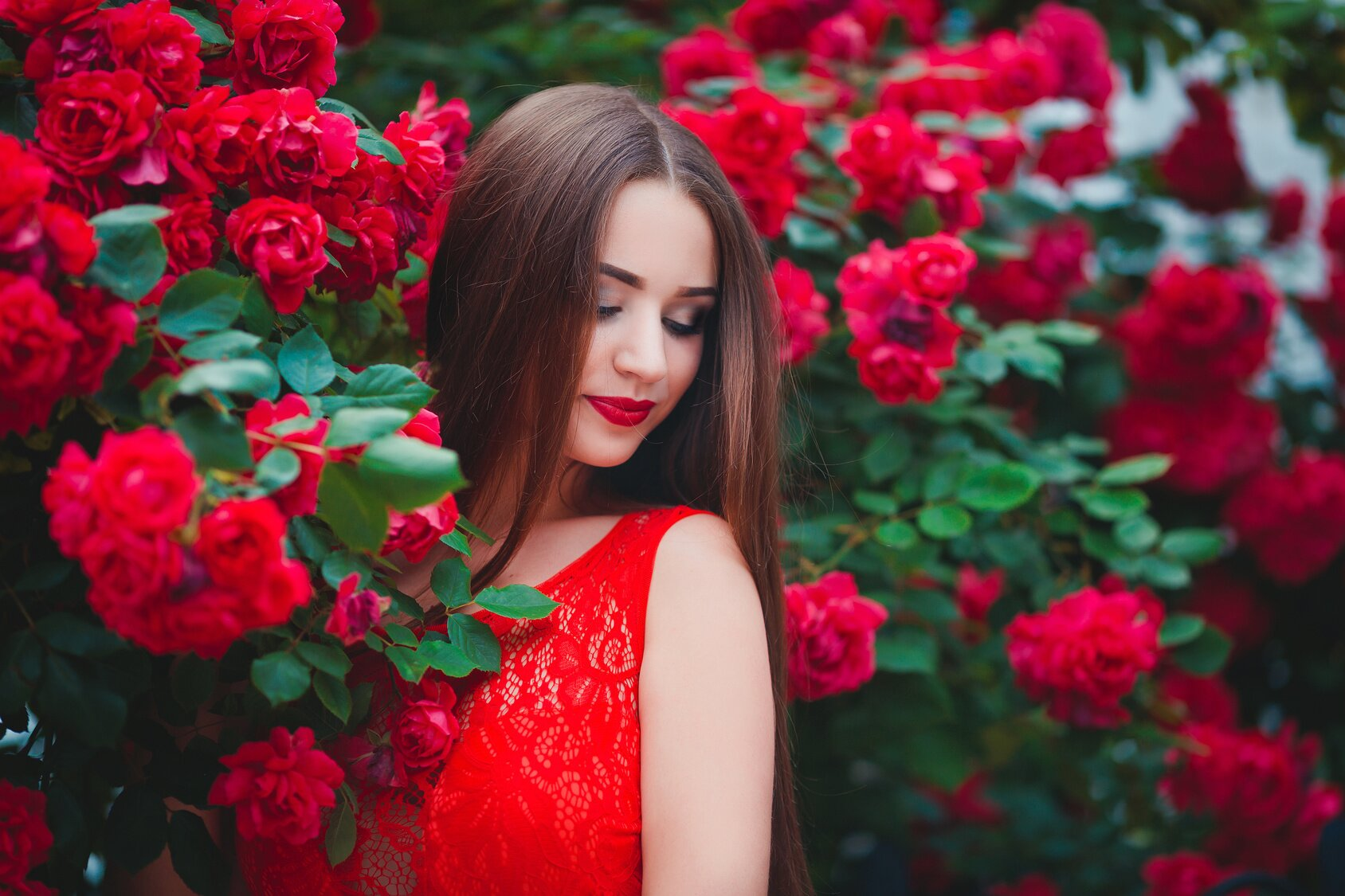 czerwonych sukienek