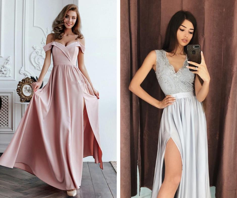 76b774f7a2 Długa sukienka z rozcięciem na wesele - HOT TREND - Pretty Clever Blog